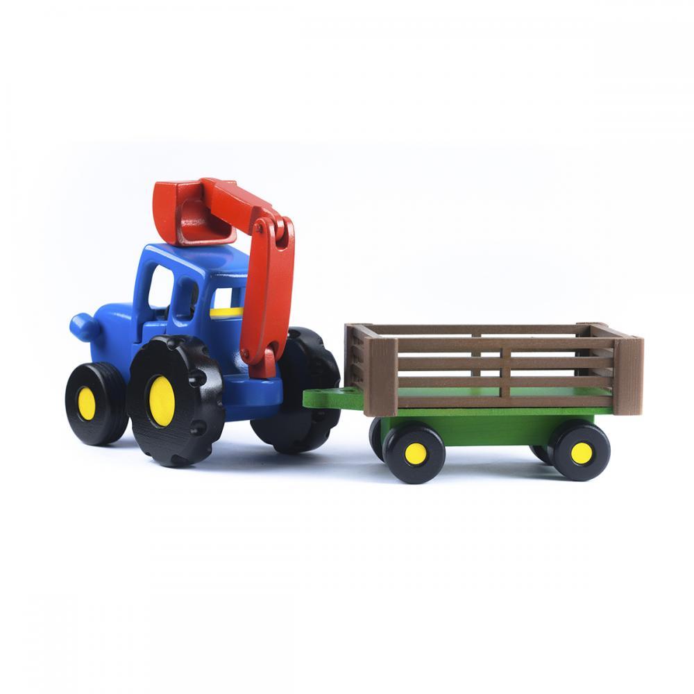 Набор Синий трактор с прицепом и ковшом