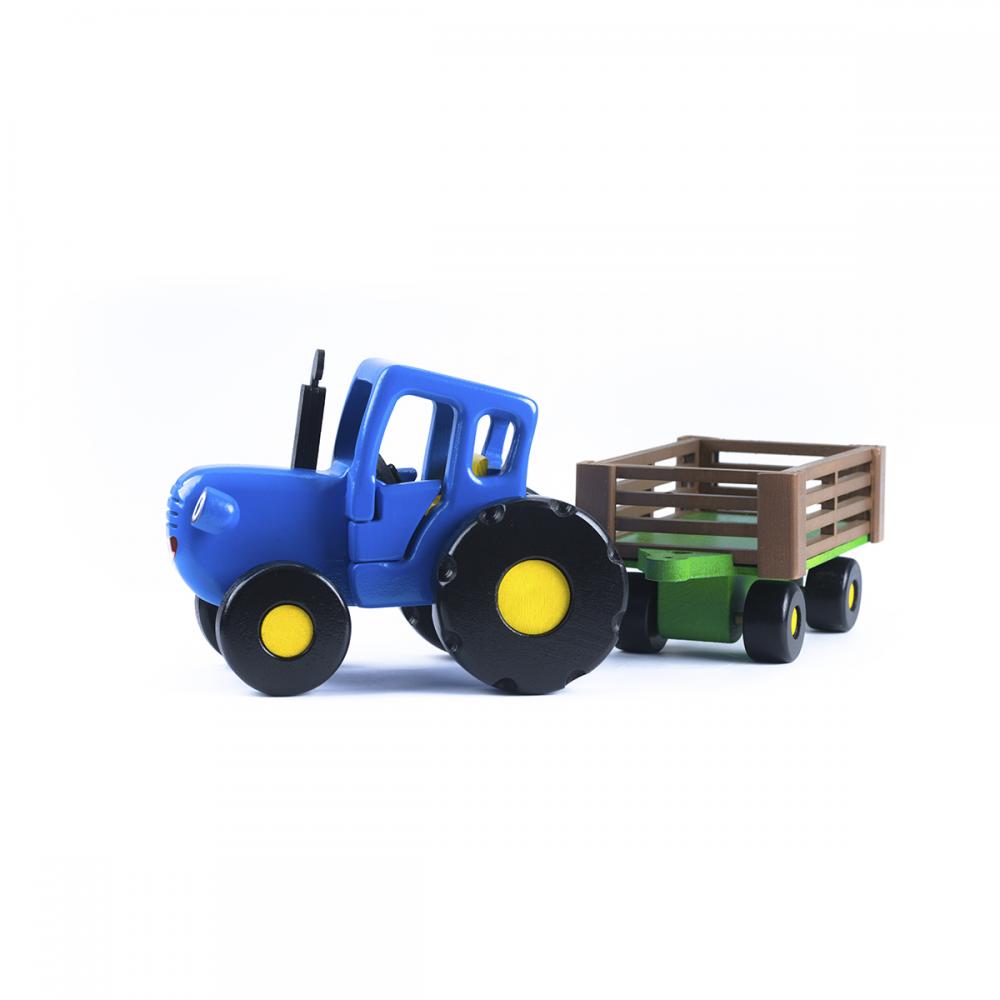 синий трактор с телегой игрушка из мультика купить